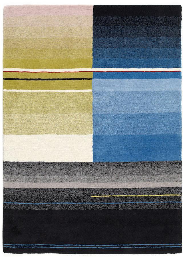 Tienda online alfombras ao negros turquesas y amarillos for Alfombra colores