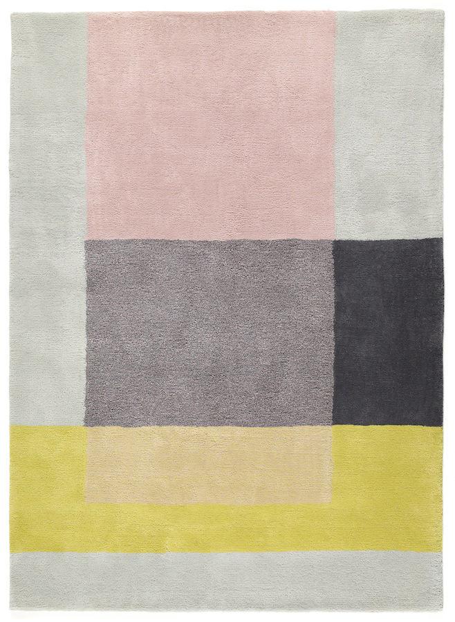 Tienda online alfombras ao rosa grises y amarillo color 05 for Alfombra colores