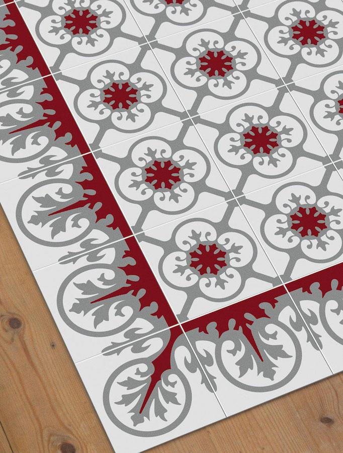 Tienda online alfombras ao alfombra mosaico aribau - Alfombras dibujos geometricos ...