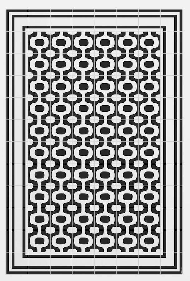 Tienda online alfombras ao alfombra mosaico ipanema - Alfombras dibujos geometricos ...
