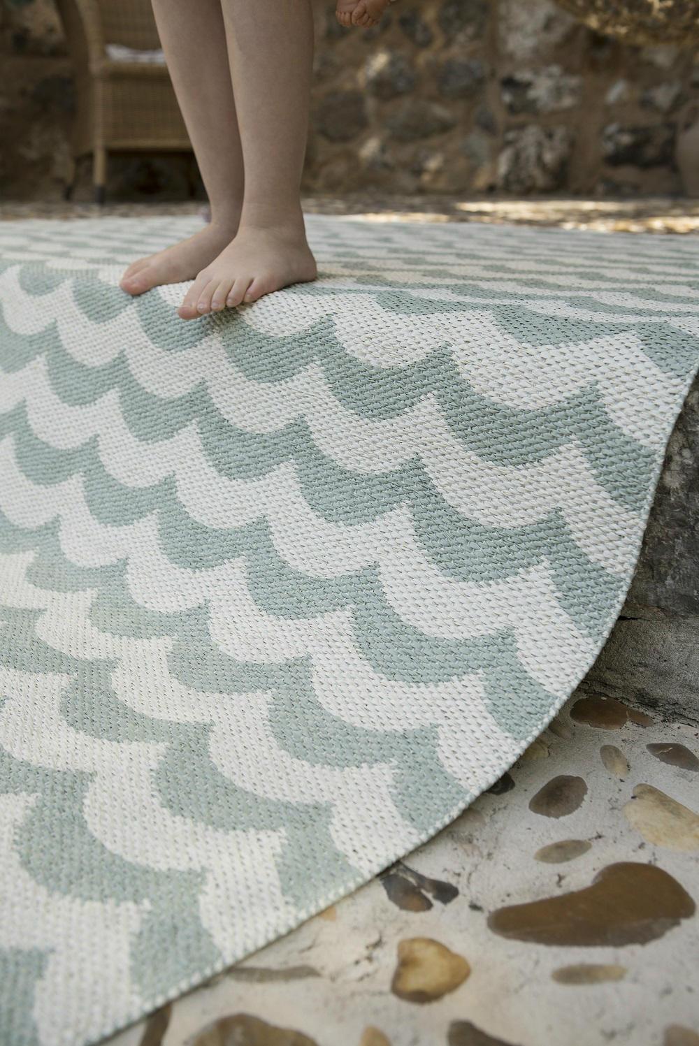 Alfombra plástico olas oceano • AO tienda online alfombras
