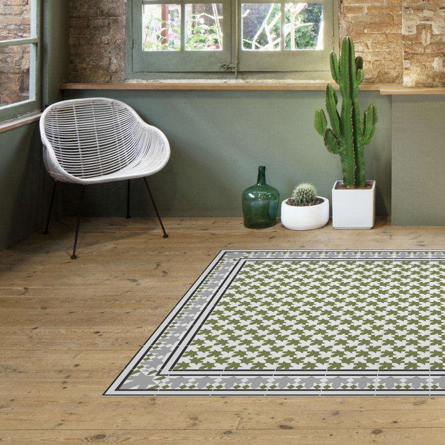 alfombra hidráulica verde
