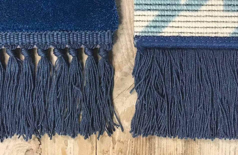 detalle alfombras con flecos liso y nudo
