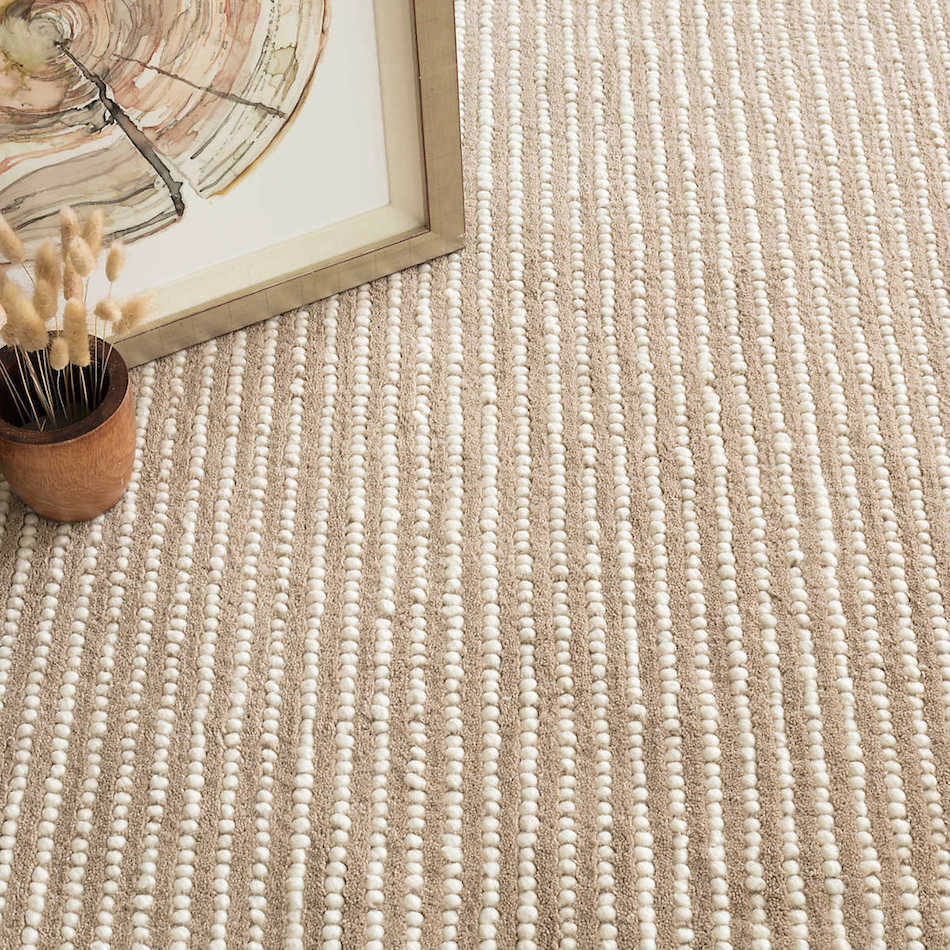 Tienda online alfombras ao alfombra punteada beige - Alfombra beige ...