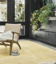 alfombra artesana-amarilla salon