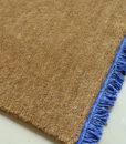 alfombra tibetana-flecos cobalto detalle