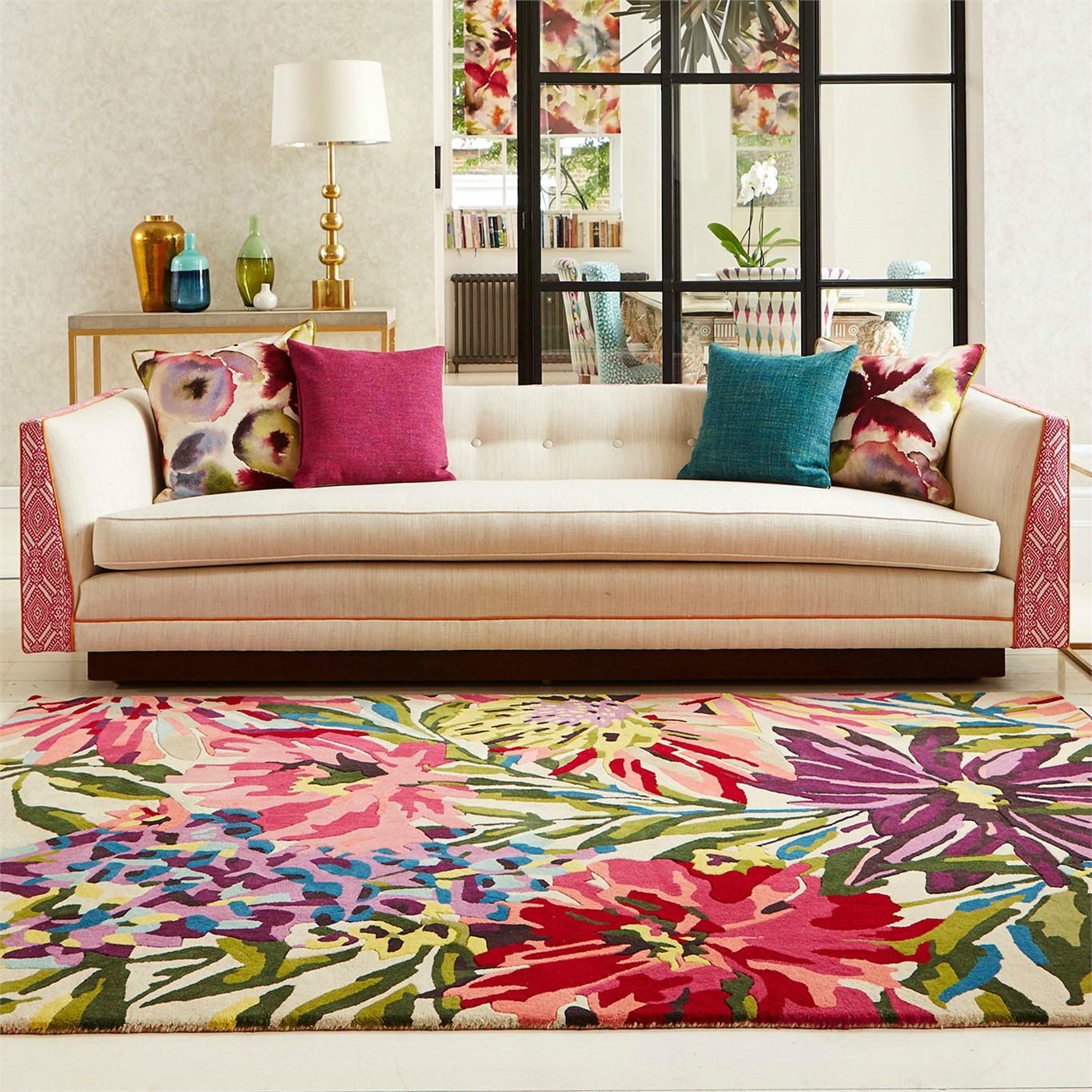 Alfombra Floral Fucsia • AO tienda online alfombras