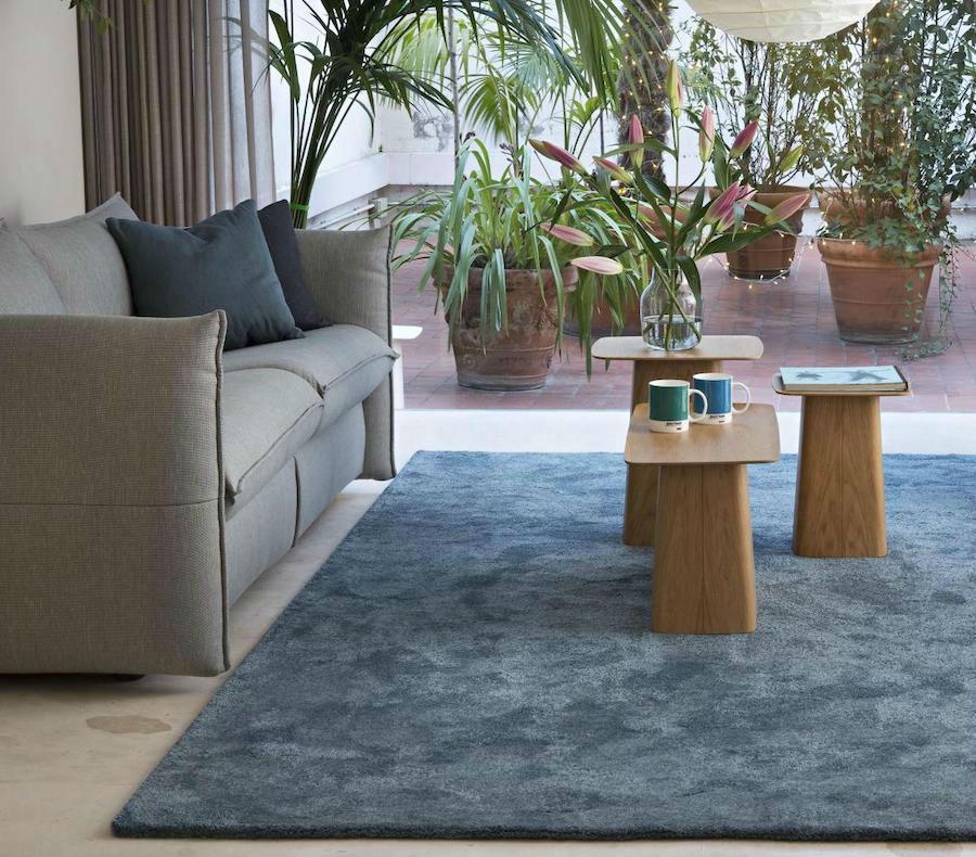 alfombra musgo color azul