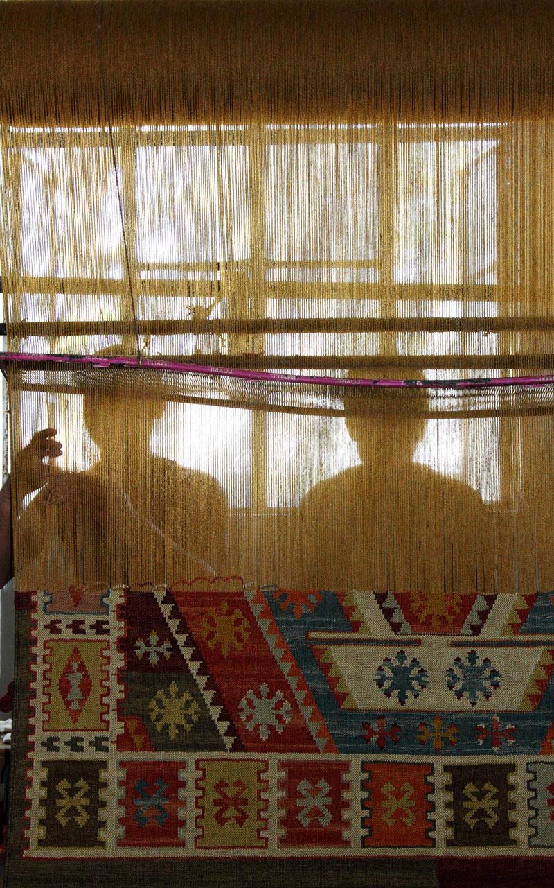 telas madera kilim