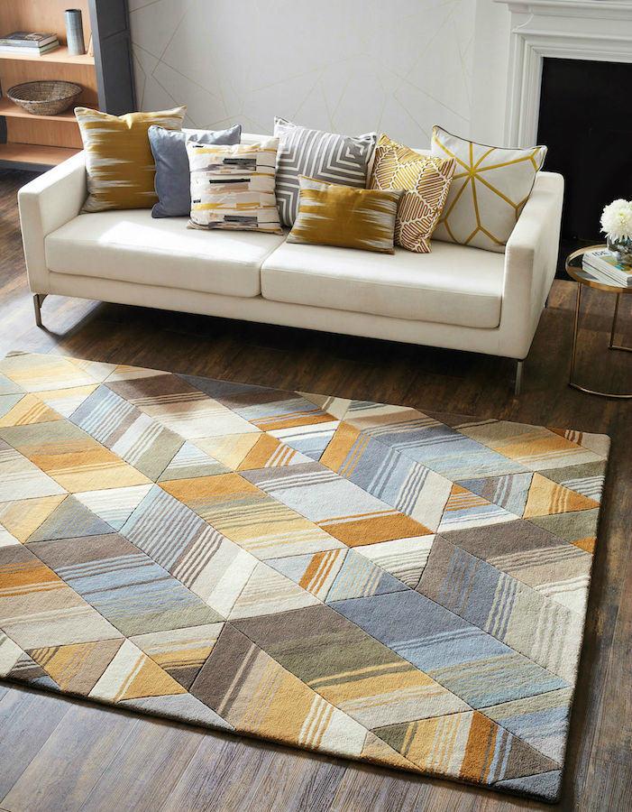 Alfombra Piezas Arco ocre • AO tienda online alfombras